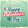 Retro vintage Valentine's day greeting card design — Stock Vector