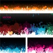 Stock Vector: Paint splat banners background