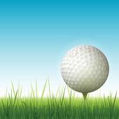 Realistic golf backgrouns illustration — Stock Photo