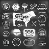 Beef specialty restaurant elements design — Stock Vector
