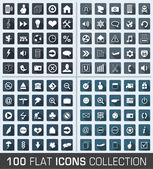 Set of 100 universal flat modern icons — Stock Vector