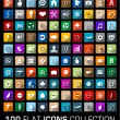 Colorful Set of 100 universal flat modern icons — Stock Vector