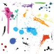 Colorful Abstract vector ink paint splats — Stock Vector #48940951