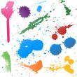 Colorful Abstract vector ink paint splats — Stock Vector #49025547