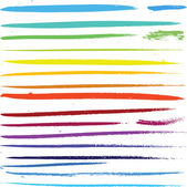 Multi colored paint art brushes — Stockvector