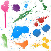 Colorful Abstract vector ink paint splats — Stock Vector
