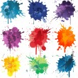 Colorful Abstract vector ink paint splats — Stock Vector #49090413