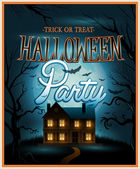 Retro Halloween background party invitation — 图库矢量图片