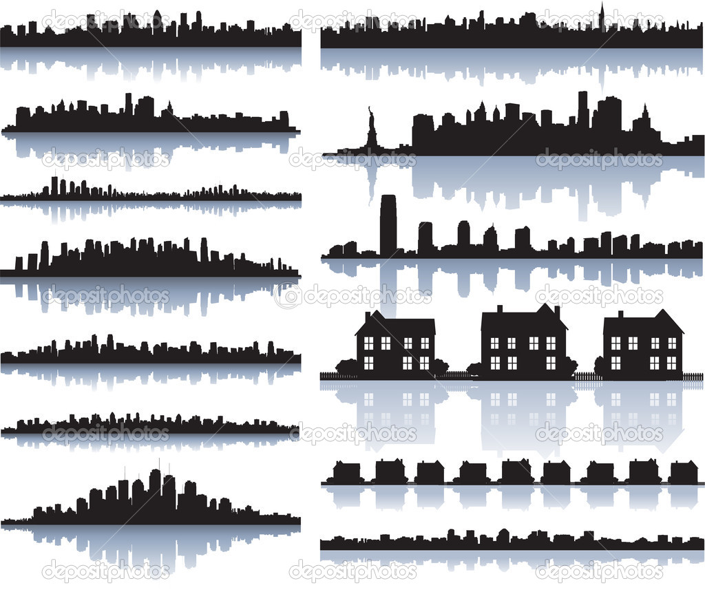 HD wallpapers house vector silhouette