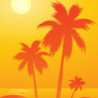 Tropical background — Stock Vector #6425525