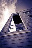 Balcone in legno — Foto Stock