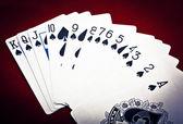 Row of spades — Stock Photo