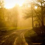 Закат на ферме — Стоковое фото