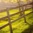 Sunset on a farm — Stock Photo