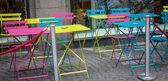 Gekleurde stoelen — Stockfoto