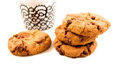Cookie with cooffe — Stock Photo