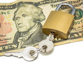 Secured money — Stock Photo
