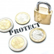 Stock Photo: Protect money