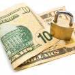 Secured money — Stock Photo #38179213