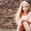 Sad little girl — Stock Photo #12691809