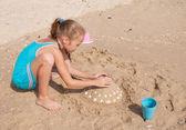 Happy child on the beach — Stock Photo