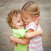 Brother And Sister Together Forever — Stock Photo