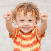 Retrato de uma criança feliz — Foto Stock