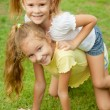 Stock Photo: Two happy little girls