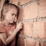 Portrait of sad little girl — Stock Photo #36967787