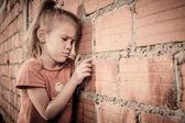 Portrait of sad little girl — Stock Photo