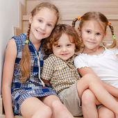 Brother And Sisters Together Forever — Stock Photo