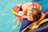Little boy in the swimming pool — Stock Photo