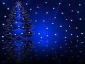Vector illustration: Christmas abstract fur-tree — Stock Vector