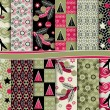 Abstract Christmas vector set of paper for scrapbook — 图库矢量图片