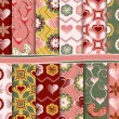 Abstract vector set of paper for scrapbook Valentine — Векторная иллюстрация