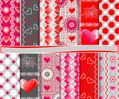 Abstract vector set of paper for the album Valentine — Stock Vector