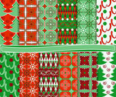 Vector set of Christmas paper for scrapbook — Stock Vector