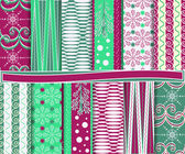 Abstract vector set of Christmas paper for scrapbook — ストックベクタ