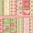 Abstract vector set of paper for the album Valentine - Image vectorielle