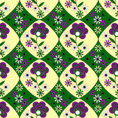 Seamless vector pattern with abstract flowers — Vettoriale Stock
