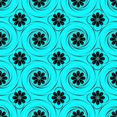 Vectorillustratie van abstracte vormen en bloemen — Stockvector