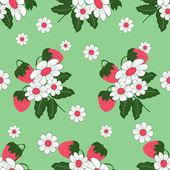 Seamless vector illustration of strawberries — Stock Vector