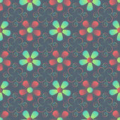 Abstract vector illustration of floral — Vector de stock