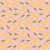 Soyut Illustration Dikişsiz: stilize güller — Stok Vektör