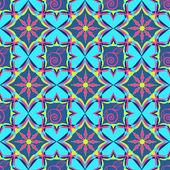 абстрактные векторные бесшовный паттерн с геометрическими фигурами — Cтоковый вектор
