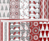 Christmas vector set of paper for scrapbook — Stock Vector