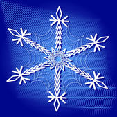 Abstract Christmas vector illustration with large snowflake — Stock Vector