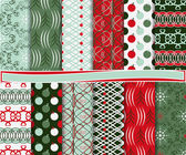 Abstract vector-set weihnachts-papier für scrapbook — Stockvektor