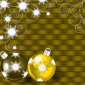 Vector illustration with Christmas balls — Vector de stock
