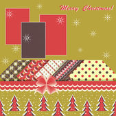 Abstract vector illustration of Christmas greeting card — Vector de stock